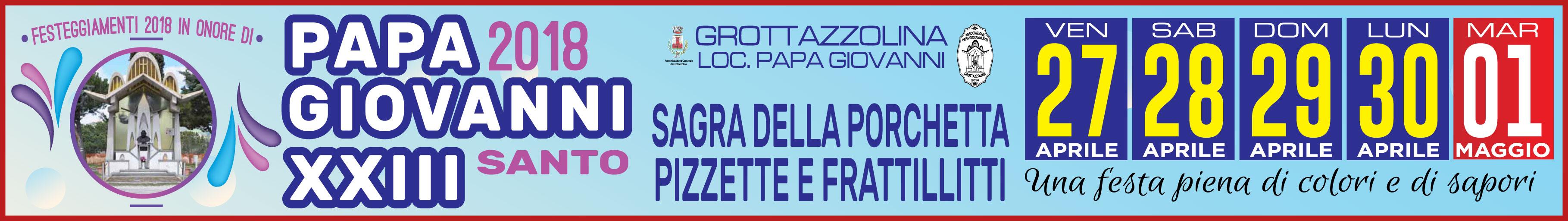 Grottazzolina - Papa Giovanni XXIII 2018